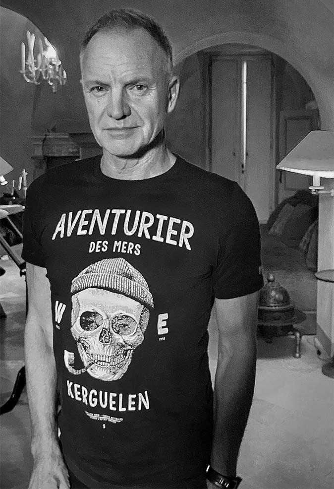 Sting en T-shirt Aventurier des Mers